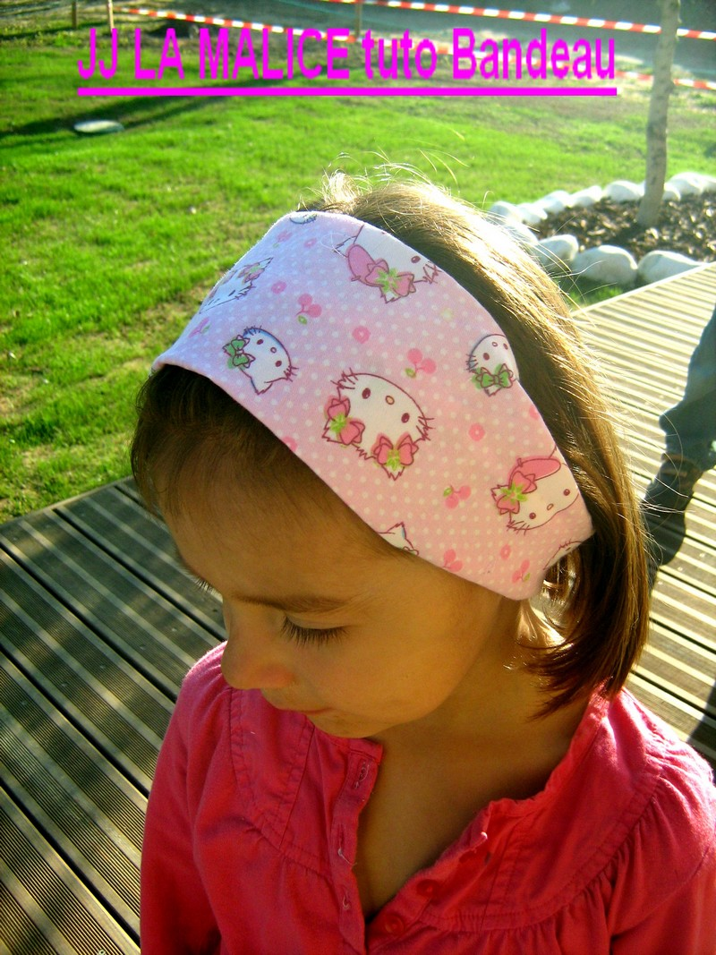 tuto bandeau fille hello kitty
